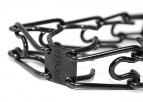 Herm Sprenger Black Stainless Steel Prong Collar with Swivel