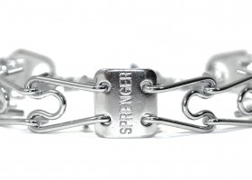 Herm Sprenger Chrome Plated Prong Collar with Swivel