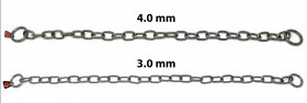 Herm Sprenger Stainless Steel Long Link Fur Saver 4mm