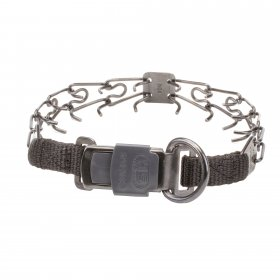 Herm Sprenger Black Stainless Steel Prong Collar with Quick Release Buckle