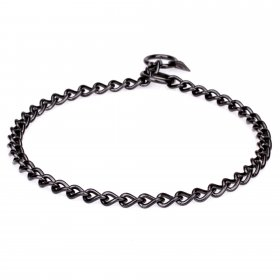 Herm Sprenger Black Stainless Steel Short Link Chain Collar 3 mm