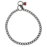 Herm Sprenger Black Stainless Steel Short Link Slip Collar 2.5 mm